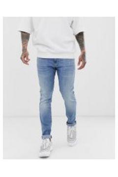 G-Star Revend - Enge Jeans in heller Aged-Waschung - Blau(94964992)