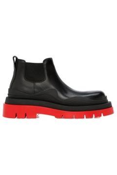 Bottega Veneta Kadın Siyah Kırmızı Deri Bot 38 EU(120498487)