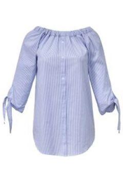Streifen-Bluse 3/4-Arm Emilia Lay hellblau/weiß(115851446)