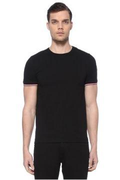 Moncler Erkek Siyah Logo Patchli Basic T-shirt L EU(114438938)