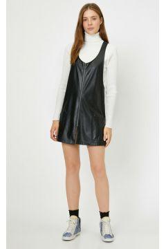 Koton Kadın Deri Görünümlü Elbise(113405748)