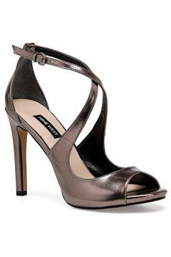Nine West Gümüş Kadın Ökçeli Ayakkabı(124597360)