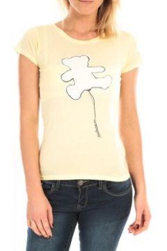 T-shirt LuluCastagnette T-Shirt Pics Printe Ours Jaune(88507679)