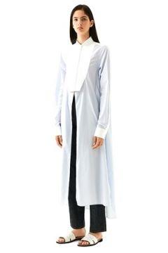 Loewe Kadın Mavi Beyaz Çizgili Uzun Gömlek S EU(113466294)