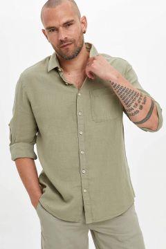DeFacto Erkek Slim Fit Uzun Kollu Pamuklu Gömlek(119063233)