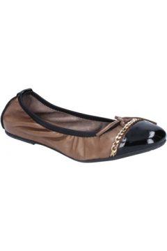 Ballerines Crown ballerines beige cuir noir BX641(115442609)