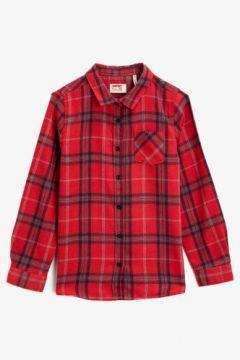 Koton Kız Çocuk Klasik Yaka Cepli Uzun Kollu Ekose Gömlek(125039880)