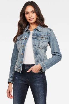 G-Star RAW Women Arc Slim Denim Jacket Light blue(119533881)