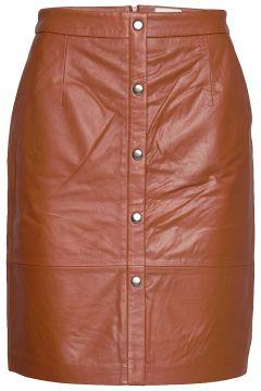 Torina Leather Skirt Kurzes Kleid Braun MINUS(114164196)