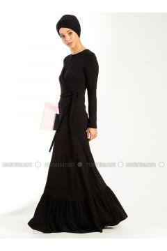 Black - Crew neck - Dresses - Meys(110316838)