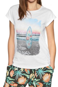 Animal Snaps Damen Kurzarm-T-Shirt - White(110360970)