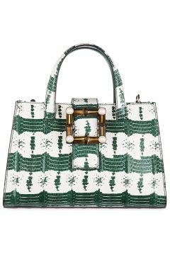 Women's leather handbag shopping bag purse nymphaea(118073441)