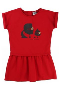 Robe enfant Karl Lagerfeld Robe manches courtes rouge(98526774)