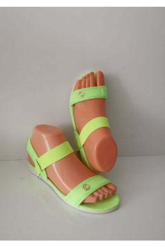 ELİS Bayan Lastikli Sandalet Yeşil Günlük Plaj Havuz(119320873)