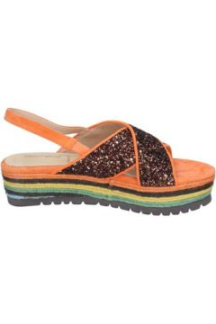 Sandales Rebecca White sandales bronze glitter orange daim BT838(115442924)