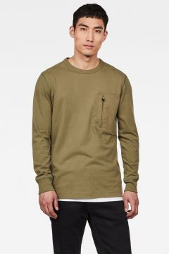 G-Star RAW Men Vehem Pocket T-Shirt Green(117926343)