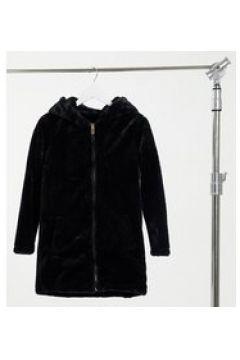 Brave Soul Petite - Bernie - Cappotto con cappuccio in pelliccia ecologica-Nero(123406101)