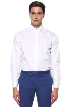 Lardini Erkek Beyaz Modern Yaka Gömlek 42 EU(118330066)