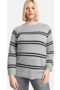 Sweter w paski Szary 46/L(115894488)