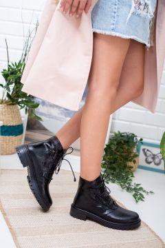 ARENA Kadın Siyah Bağcıklı Süet Bilek Üstü Bootie(124643858)