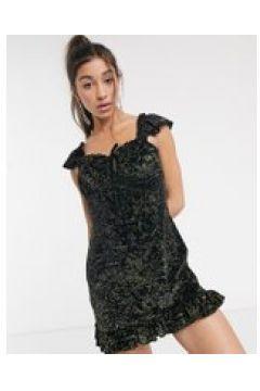 New Girl Order - Vestitocorto da giorno in velluto e stampa di zodiaco glitterata-Multicolore(120328607)
