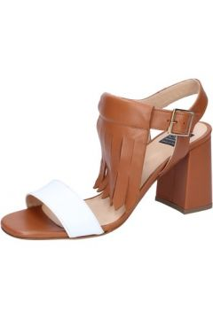 Sandales Islo sandales marron cuir blanc BZ332(115398907)
