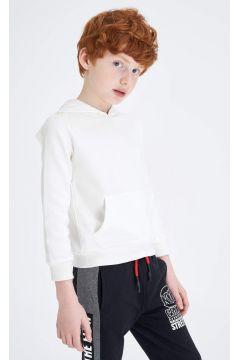 DeFacto Erkek Çocuk Kapüşonlu Kanguru Cepli Basic Sweatshirt(119064917)