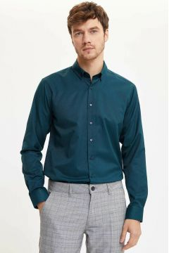 DeFacto Erkek Basic Modern Fit Gömlek(108988406)
