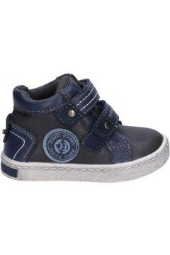 Baskets enfant Enrico Coveri COVERI sneakers gris cuir bleu AD961(115393797)