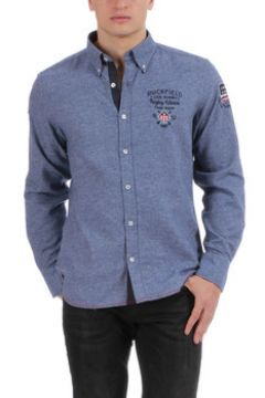 Chemise Ruckfield Chemise manches longues bleue Rugby(115489497)