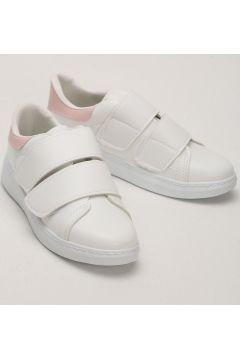 Sportmax Beyaz Pudra Bantlı Kadın Sneaker(110948851)