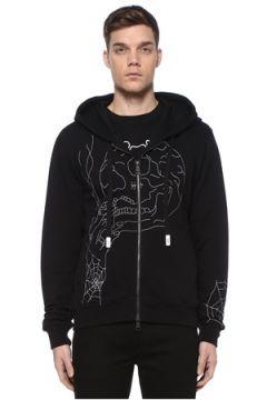 Haculla Erkek Avant Siyah Kapüşonlu İşlemeli Sweatshirt M EU(108972844)