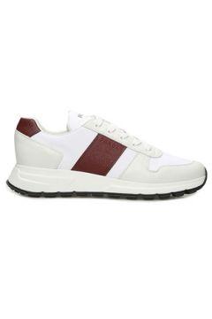 Prada Sport Erkek Beyaz Bordo Şeritli Logolu Sneaker 9 UK(109148702)