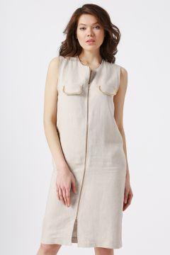 Beymen Studio Cep Detaylı Vizon Elbise(113976568)