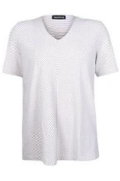 V-Shirt mit Diagonalstreifen seeyou Leinen(115851562)