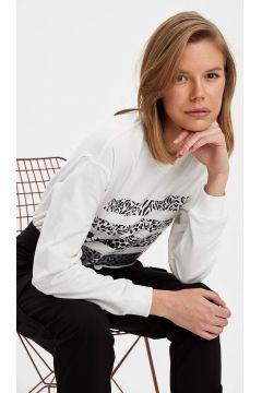 DeFacto Kadın Regular Fit Baskılı Sweatshirt(119060759)