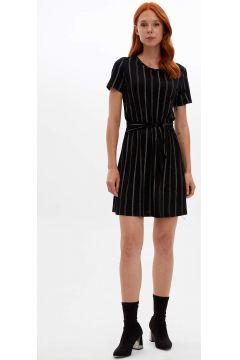 DeFacto Kadın Slim Fit Belden Bağlamalı Elbise(125918360)