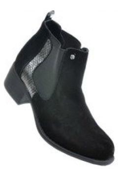 Pantofelek24.pl | Czarne botki damskie na niskim obcasie(112083224)