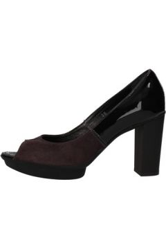 Chaussures escarpins Hogan escarpins pourpre cuir verni daim AF926(115393424)