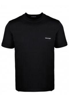 Balenciaga Erkek Siyah Logo Baskılı Oversize T-shirt M EU(114438644)