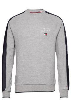 Th Flex Nyln Paneled Sweatshirt Sweat-shirt Pullover Grau TOMMY HILFIGER(111057426)