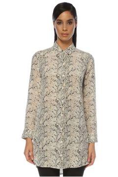 Equipment Kadın Leopar Desenli Mini İpek Gömlek Elbise S EU(120885363)