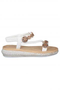 Guja 19y209-3 Ortopedik Beyaz Kadın Sandalet(121099778)