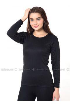 Black - Corset - Elitol Pijama(110320382)