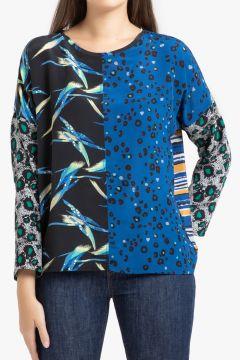 Blusa de seda de manga larga(113748239)