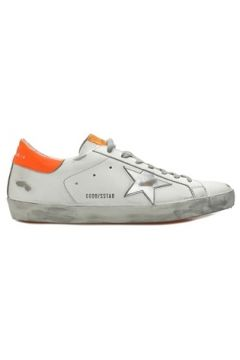 Golden Goose Erkek Superstar Beyaz Logolu Deri Sneaker 40 EU(108873832)