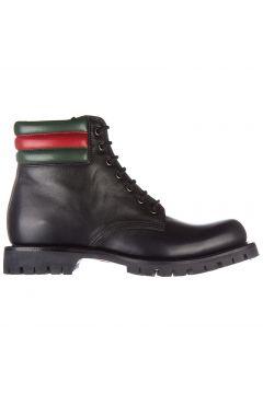 Men's genuine leather ankle boots web pantoufle(118298319)