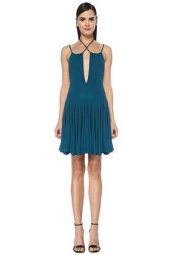 Dsquared2 Kadın Yeşil Asimetrik Kesim Volanlı Mini Elbise S EU(107373631)