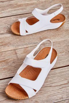 Bambi Beyaz Kadın Sandalet 09(123746053)