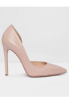 Aldo Hakiki Deri Naturel Kadın Klasik Topuklu Ayakkabı(120897082)